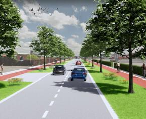groene fietsveilige Diksmuidsesteenweg