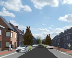 beeld Wijnendalestraat na herinrichting