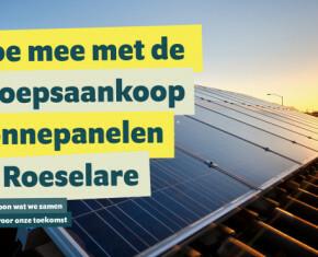 doe mee aan de groepsaankoop zonnepanelen in Roeselare