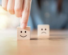 Scrabbleblokje met smiley